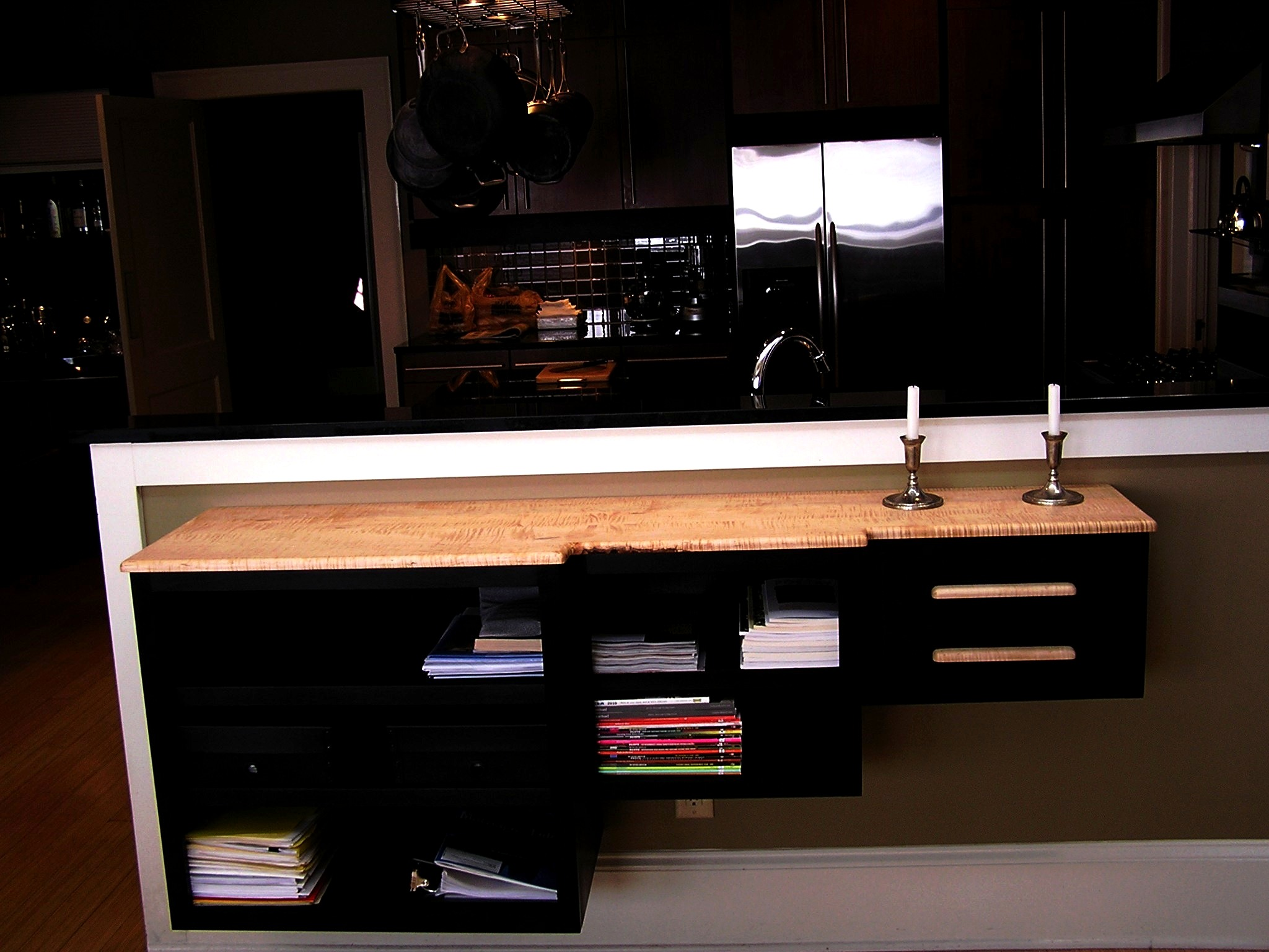 Custom floating shelves