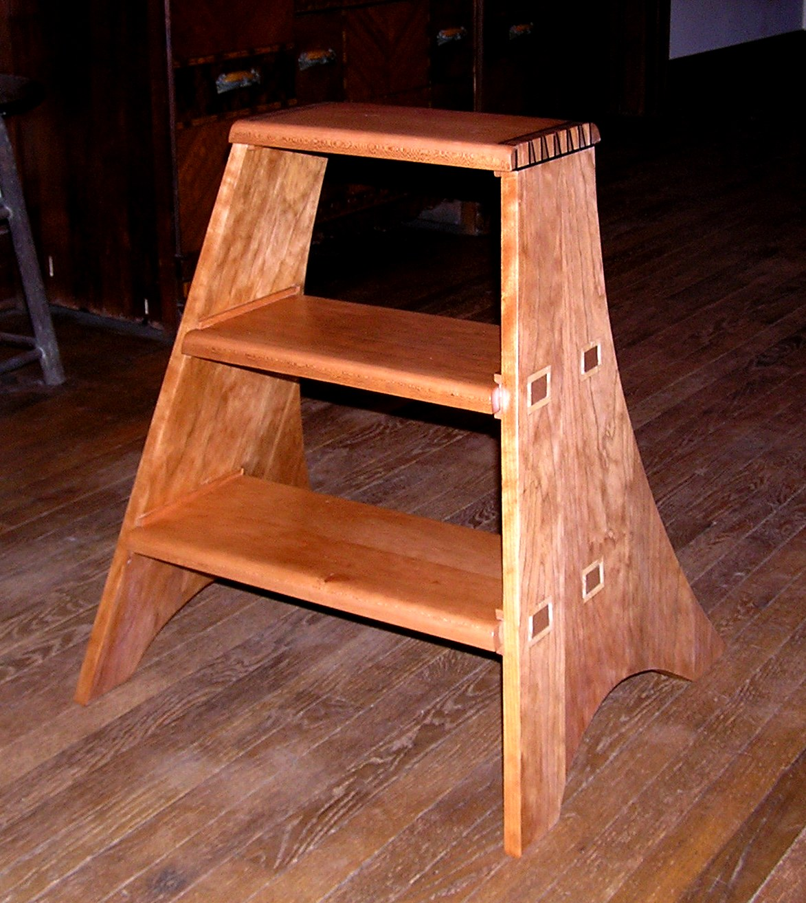 Curley Cherry Library Step Stool