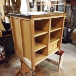 custom wood wine cabinet maple and walnut