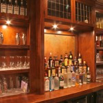 The Manchester Arms Bar built with leaded Glass -, Old Six Panel Doors , Bar top was Built out of Old Heart Pine Rail Road Flooring If you feel under side of the bar top you can feel how ruff it is. Manchester Arm is located at 1705 Virgina Ave, College Park, Ga. 30337 Stop by and have a Drink