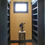 Home built in Library, I built 4 different bookcases Wood: Poplar Finished by home owners.