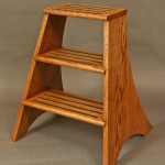 Red Oak Library Step Stool Wood: Red Oak Joinery: Slotted steps and dowel and peg  Finish: Hand Rubbed Clear Oil