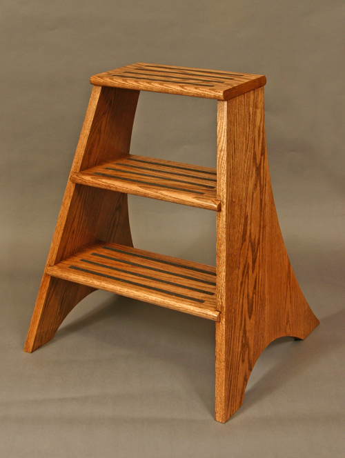Red Oak Library Step Stool Wood Red Oak Joinery Slotted steps and dowel and & Red Oak library step stool islam-shia.org