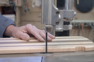Hands on bandsaw